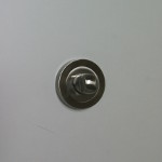 BOUTON WC a condamnation ROSACE RONDE nickel satin chrome diametre 50mm x 10mm